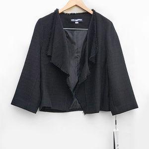 Karl Lagerfeld NWT Waterfall Front Blazer Jacket